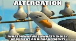 the altercation, Have you ever witnessed your parents?